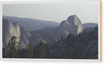 Half Dome From Olmsted Pt Wood Print