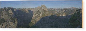 Half Dome Wood Print by Gary Lobdell
