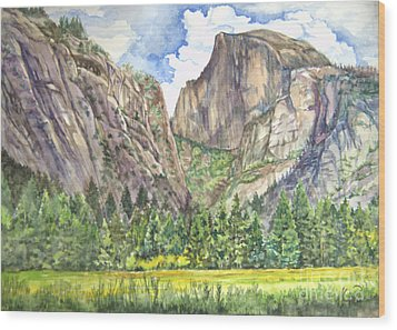 Half Dome In Spring Wood Print by Heewon Kim