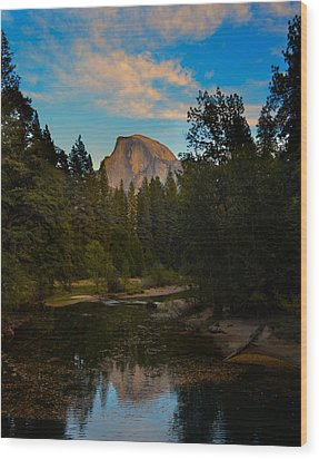 Half Dome In Yosemite Wood Print
