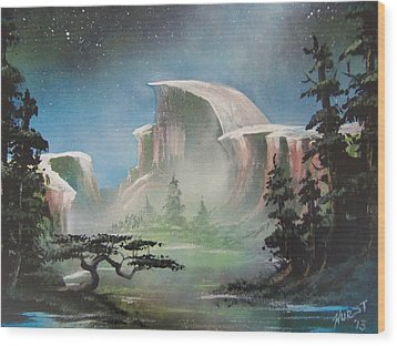 Half Dome Wood Print by Jim Hurst
