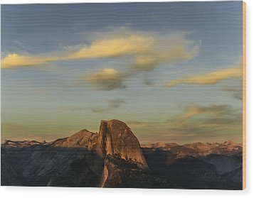 Half Dome Sunset Wood Print