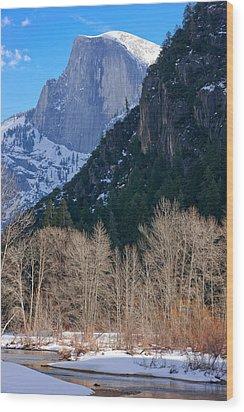 Half Dome - Yosemite Wood Print by Carl Amoth
