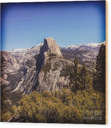 Half Dome Yosemite Nationa Park Wood Print