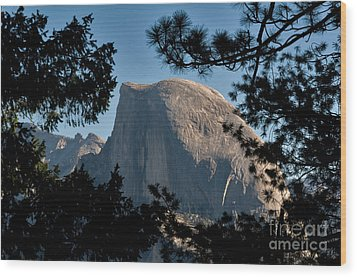 Half Dome, Yosemite Np Wood Print by Mark Newman
