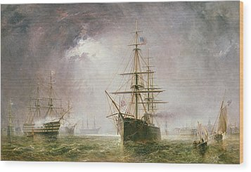 Half Mast High 19th Century Wood Print by  Robert  Dudley
