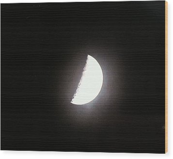 Wood Print featuring the photograph Half Moon by Alohi Fujimoto