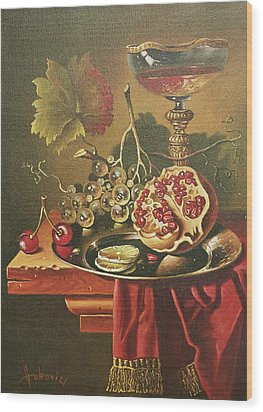 Half Of Pomegranate For You Wood Print by Dusan Vukovic