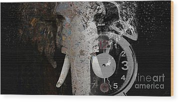 Half Past Extinction Wood Print
