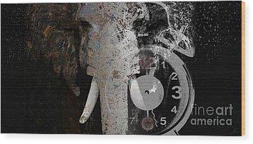 Half Past Extinction Wood Print by Nola Lee Kelsey