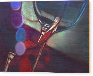 Half Price Wine Night Wood Print by D Rogale