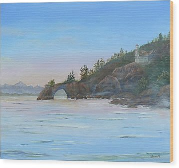 Halibut Cove Wood Print