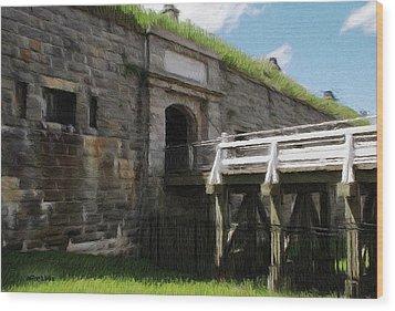 Halifax Citadel Wood Print by Jeff Kolker