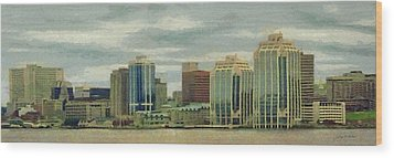 Halifax From The Harbour Wood Print