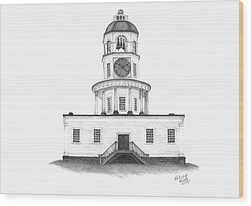 Halifax Town Clock Wood Print