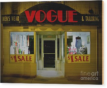 Halifax Vogue Wood Print by John Malone