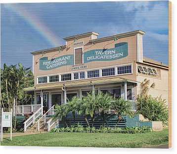 Wood Print featuring the photograph Haliimaile General Store 1 by Dawn Eshelman