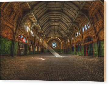 Hall Beam Wood Print by Nathan Wright