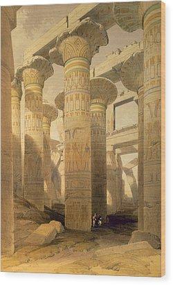 Hall Of Columns, Karnak, From Egypt Wood Print by David Roberts