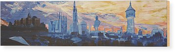 Halle Saale Germany Skyline Wood Print by M Bleichner