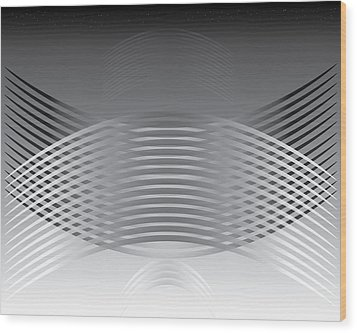 Hallenwave Wood Print