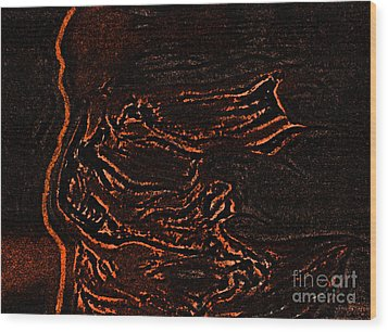 Halloween Specter Black By Jrr Wood Print by First Star Art