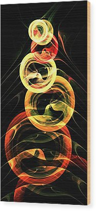 Halloween Vision Wood Print by Anastasiya Malakhova
