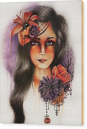 Hallows Eva Wood Print by Sheena Pike