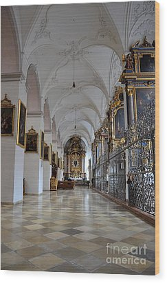 Wood Print featuring the photograph Hallway Of A Church Munich Germany by Imran Ahmed