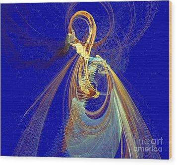 Halo Spirit Wood Print by Jeanne Liander