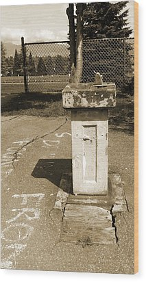 Wood Print featuring the photograph Lonely Drink Fountain by Laurie Tsemak