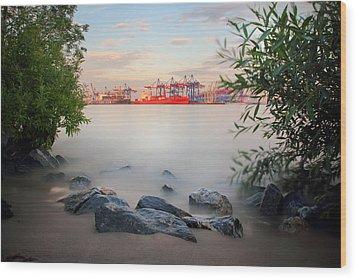 Hamburg Dreams Wood Print by Marc Huebner