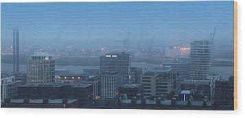 Hamburg Hafencity Panorama Wood Print by Marc Huebner