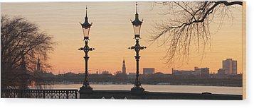 Hamburg Romance Wood Print by Marc Huebner
