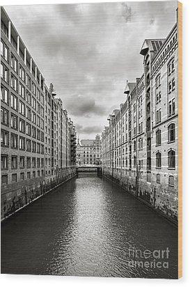 Hamburg Speicherstadt Wood Print by Daniel Heine