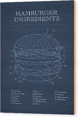 Hamburger Wood Print by Aged Pixel