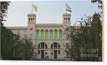 Wood Print featuring the photograph Hamburger Bahnhof In Berlin by Art Photography