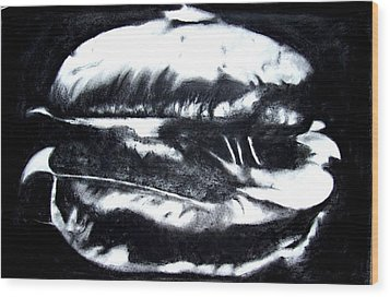 Hamburger Wood Print
