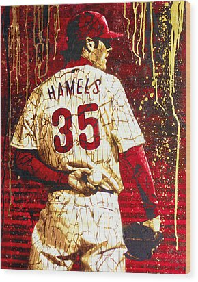 Hamels - The Executioner Wood Print by Bobby Zeik