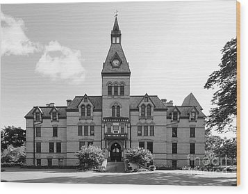 Hamline University Old Main Wood Print by University Icons
