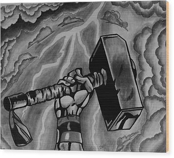 Hammer Of Thor Wood Print by Jeremy Moore