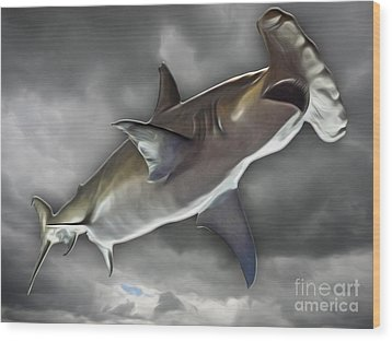 Hammerhead Wood Print by Gregory Dyer