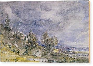 Hampstead Heath From Near Well Walk Wood Print by John Constable