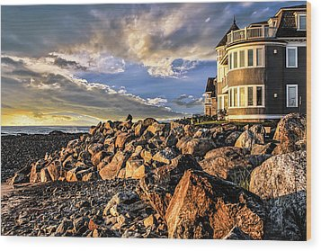 Hampton Beach Sunrise Wood Print