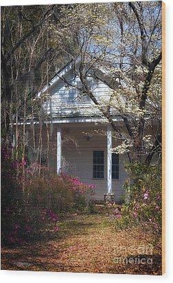 Hampton Slave Quarters Wood Print by John Rizzuto