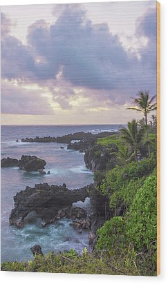 Hana Arches Sunrise 3 - Maui Hawaii Wood Print by Brian Harig