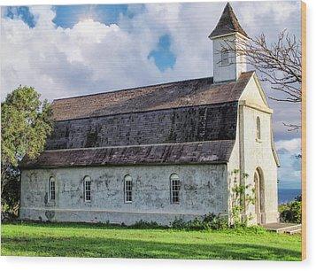 Wood Print featuring the photograph Hana Church 4 by Dawn Eshelman