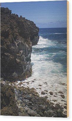 Hana Coastline 1 Wood Print