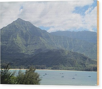 Wood Print featuring the photograph Hanalei Bay by Alohi Fujimoto