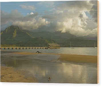 Hanalei Bay Reflections - Kauai Wood Print